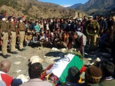 Last farewell to BSF jawan with military honor